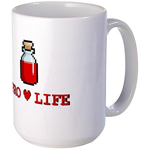 CafePress - Zelda Pro-Life Large Mug - Coffee Mug, Large 15 oz. White Coffee Cup