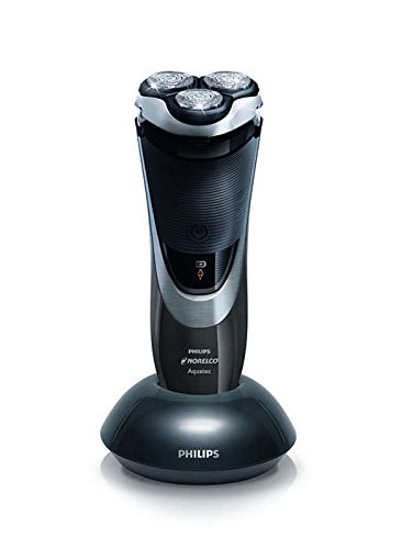 Philips Norelco AT830 Aquatec PowerTouch Rechargeable Cordless Razor, Gray/Silver/Black w/BONUS Philips HQ8 SHAVING HEAD PACK