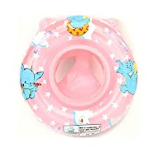 Onebest Baby Kids Toddler Inflatable Swimming Swim Ring Float Seat Boat Pool Bath Safety (blue) (Pink)
