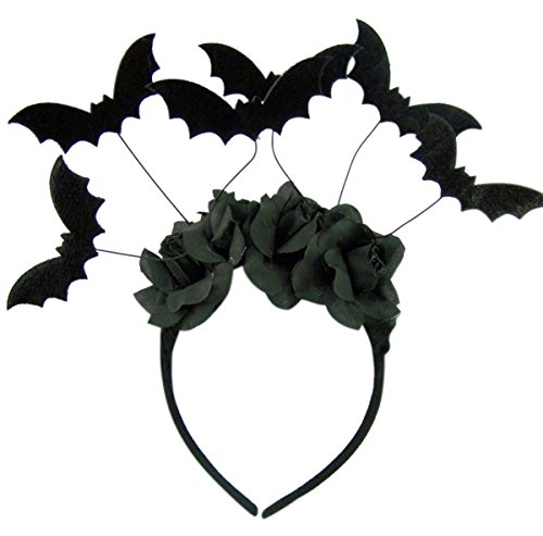 Halloween Witch Costume Accessories (Halloween Black Bat Headband Costume)