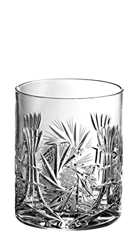 Barski - Hand Cut - Mouth Blown - Crystal - D.O.F - Tumbler - Pinwheel Design - Set of 4 - 14oz. - Made in Europe