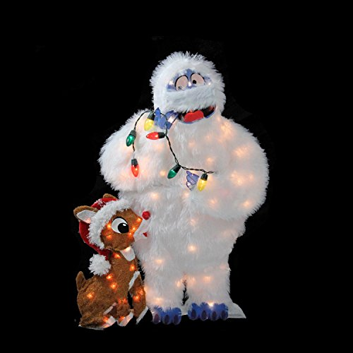 """CC Home Furnishings 32"""" Pre-Lit Peanuts Rudolph and Bumble 2D Christmas Yard Art Decoration by CC Home Furnishings (Image #2)"""