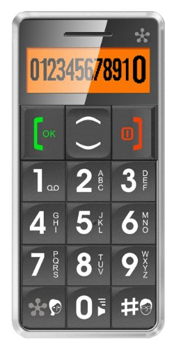 JUST5 J509 Easy to Use Unlocked Cell Phone with Big Buttons, Amplified Sound, Personal Emergency Response System (Grey)