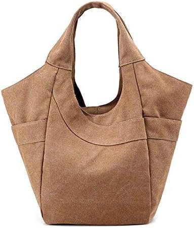 女性キャンバストートハンドバッグカジュアルショルダーバッグ容量ショッピングバッグ YZUEYT