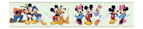 York Wallcoverings Disney Kids DK5918BD Mickey & Friends Border, Green