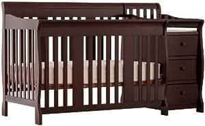 Stork Craft 04586-479 Portofino 4-In-1 Fixed Side Convertible Crib and Changer (Espresso)
