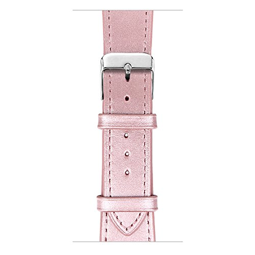 Compatible with Apple Watch Band, COVERY 42mm Soft Genuine Leather Strap Wristband Compatible Apple Watch Series 3, Series 2, Series 1, Sport & Edition - Rose Gold by COVERY (Image #5)