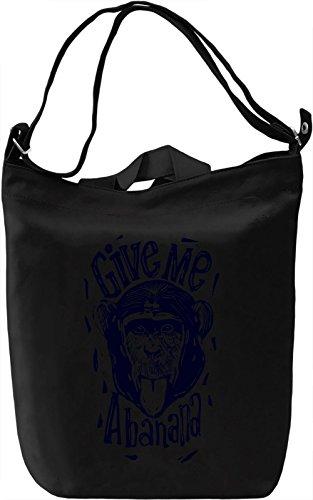 Banana Borsa Giornaliera Canvas Canvas Day Bag| 100% Premium Cotton Canvas| DTG Printing|