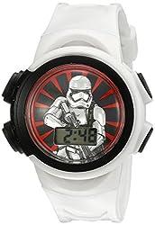 Star Wars Kids' SW7KD155CT Digital Display Quartz White Watch