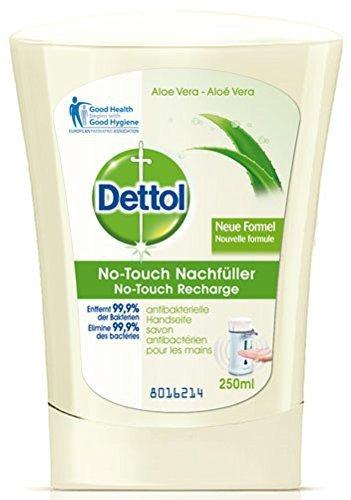No-touch Dettol recarga de Aloe Vera, fibras. Dispensador de jabón líquido -