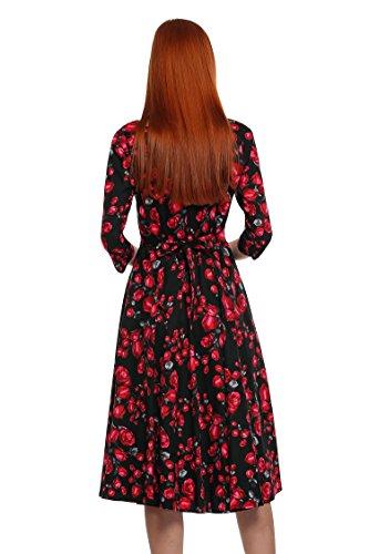 6217a6089a5 ... Cocktailkleid Damen Arm Retro Acevog Partykleid Knielang Abendkleid  Vintage Lang Sommerkleid 1950er ...
