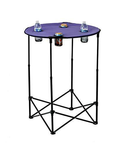 Picnic Plus  Adjustable Height Tailgate Camping Sports Scrimmage Table- Purple