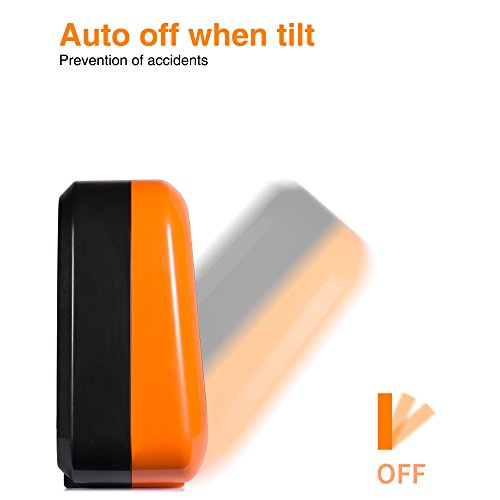 Personal Ceramic Portable Mini Heater For Office Desktop Table Home Dorm,  400 Watt ETL Listed For Safe Use, Orange