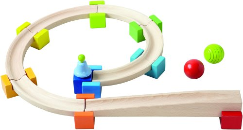 - HABA My First Ball Track - Basic Pack 18 Piece Building Set (Made in Germany)