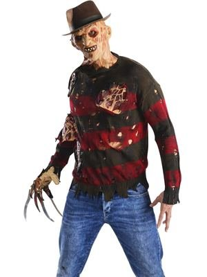 The Burning Man Costumes (Rubie's Costume Men's Nightmare On Elm St Adult Sweater with Burning Latex Flesh, Multicolor, Standard)