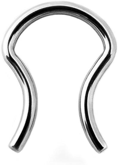 Amazon Com Urban Body Jewelry 10g Stainless Steel Septum Ring