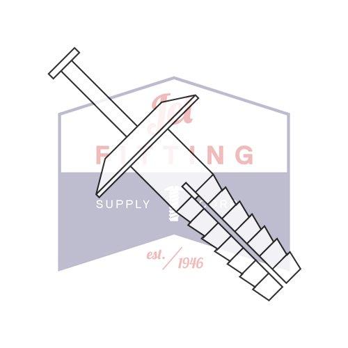 1/4X1 1/2 Plastic Drive-Pin Anchor Rivets | All Nylon 2 Piece | Truss Head | Body: Nylon 6/6 Impact Modified | Pin: Nylon 6/6 Impact Modified - White (Quantity: 1000)