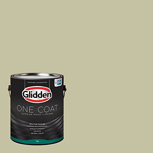 Glidden Interior Paint + Primer: Sage/Northern Landscape, One Coat, Flat, - Flat Paint 01 Interior