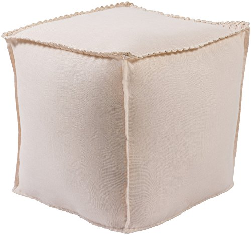 Surya Evelyn Cube Pouf in Pastel Pink Color EVPF005-181818
