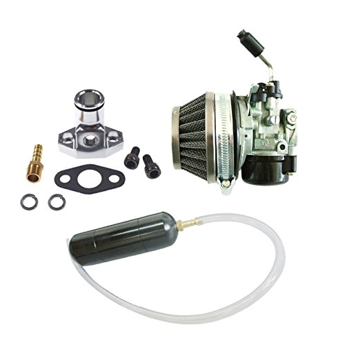 Power Boost Pipe - JRL Carburetor&Black Gas Power Boost Bottle For 66cc 80cc Engine Motorized Bicycle