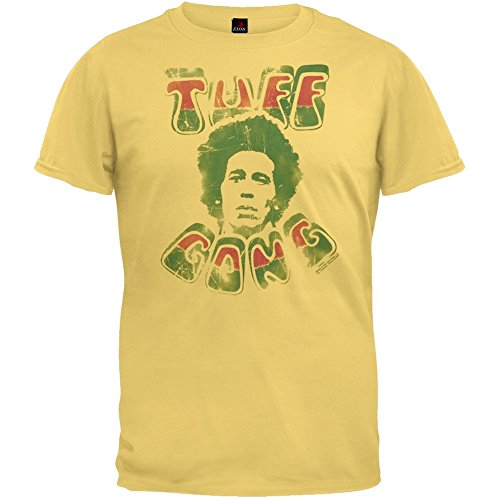 Bob Marley - Mens Tuff Gong Vintage T-shirt Small Yellow