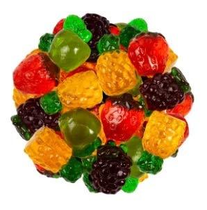 FirstChoiceCandy 3D Assorted Gummy Fruits Candy (2LB)