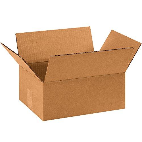 "Partners Brand P1184R100PK Flat Corrugated Boxes, 11"" L x 8"""