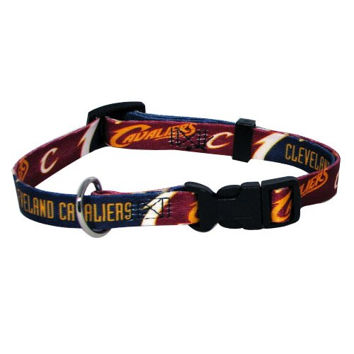 NBA Cleveland Cavaliers Adjustable Pet Collar, Team Color, Medium