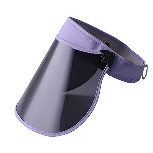 Sun Visor Hat Outdoor Anti Ultraviolet Sun Hat for Women Men and Kids 360°Rotation (Purple)
