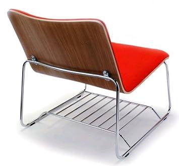Amazon.com: Offi Perch Lounge Silla en gris carbón lana con ...