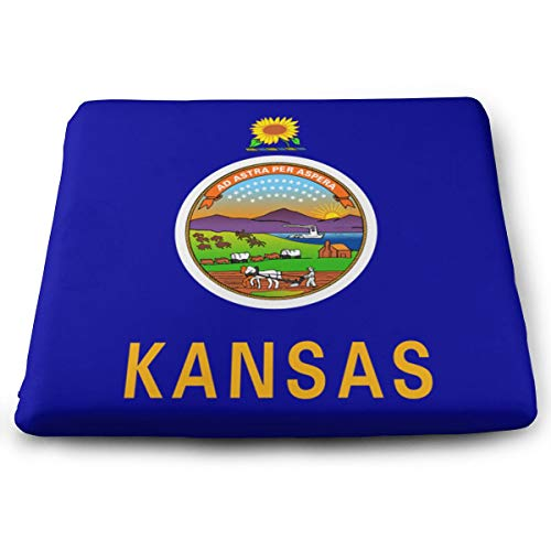Mars Sight Kansas State Flag Seat Cushions Non Slip Seat Cushion for Kitchen Dinning Chair for Car Seat Cushion Or Wheelchair Cushion
