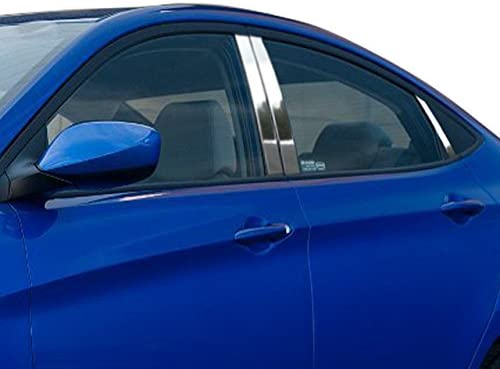 QAA fits 2012-2017 Hyundai Accent 6 Piece Stainless Pillar Post Trim PP12366