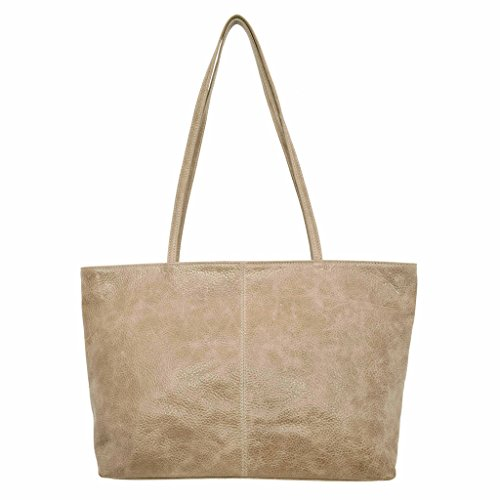 Latico Leathers Cruz Tote Genuine Authentic Luxury Leather, Designer Made, Business Fashion and Casual Wear, Pebble Steel by Latico (Image #2)