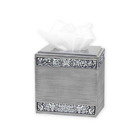India Ink Omni Boutique Tissue Box Holder in Pewter