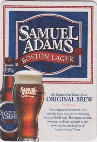 The Boston Beer Company - Samuel Adams Boston Lager - Paperboard Coasters - Sleeve of 90 (Ale Adams Boston Sam)