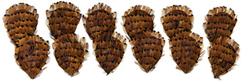 (Heart Ringneck Pheasant Feather Pad - 12pcs Wedding Decor Hat Fascinators for Women)