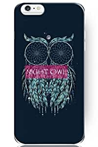 SPRAWL New Classic Vintage Beautiful Design Hard Plastic Snap on Slim Fit Night Owl 5.5 Inch Iphone 6 plus Case for Teen Girls