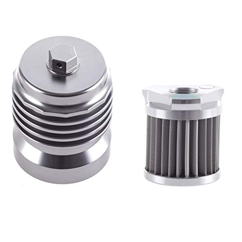 Motorcycle Racing Stainless Steel Reusable Oil Filter with Replacement cartidge fitting