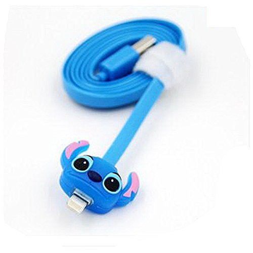 MICNOKEYA (007) LED Light Data Sync and Charge Compatible Cute Cartoon USB Cable for Apple iPhone 6/ 6 Plus/ 5/ 5S/ 5C, iPad 4G, iPad mini, and iPod Nano 7G
