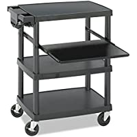 Safco Products 8929BL Multimedia Projector AV Cart, Black