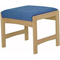 Wooden Mallet DW5-1 Single Bench, Medium Oak/Watercolor Earth