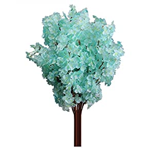 Powerfulline 1Pc 3 Branches Artificial Cherry Blossom Flower Bouquet Wedding Home Decoration 118