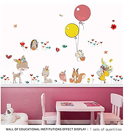 Image of: Cute Animals Image Unavailable Amazoncom Amazoncom Wall Sticker Diy Kawaii Animals Cartoon Wall Decals
