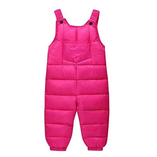 Fleece T-shirt Bib - VEKDONE Baby/Infant/Toddler Chest High Insulated Snow Bib Overalls Best Snowsuit