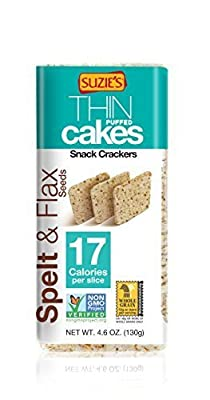 Suzie's Whole Grain Thin Cakes, Spelt and Flax Seeds, 4.6 Ounce (Pack of 12)