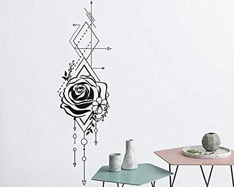 42x143cm hermosa rosa geométrica y flechas calcomanias de ...