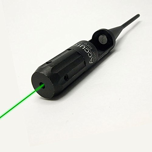 H World Shopping Tactical Outdoor Green Spot Dot Laser Light Bore Sighter Kit Caliber .22-.50 Caliberation Collimator Scope
