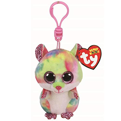 (Ty Beanie Babies 36558 Boos Rodney the Pink Hamster Boo Key Clip )