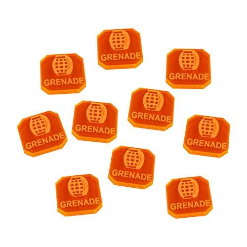 Gasland Miniatures Game Grenade Tokens, Fluorescent Orange (10) ()