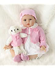 HRYEOY Realistische pop Reborn baby meisje 55 cm pasgeborenen siliconen